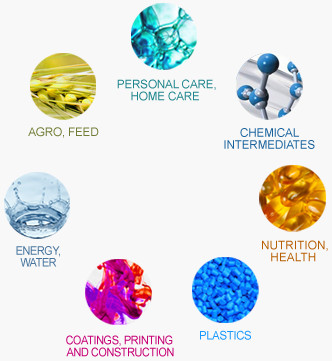 WRL's Chemicals Portfolio: personal care, home care, chemical intermediates, nutrition, health, plastics, coatings, printing and construction, energy, water, agro, feed